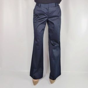 THEORY navy blue wide leg pant cotton stretch 0108
